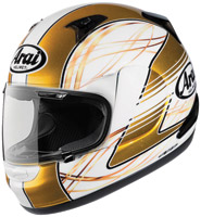 Arai RX-Q Vibe White and Gold Full Face Helmet