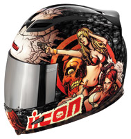 ICON Airframe Pleasuredome Black Full Face Helmet