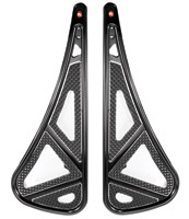 Battistinis Wireframe Black/Chrome Passenger Floorboards