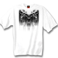 Hot Leathers Skull Dagger Biker T-shirt