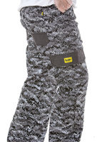 Drayko Optix Grey Camo Riding Jeans