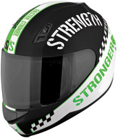 Speed and Strength SS700 Top Dead Center Green Full Face Helmet