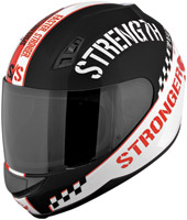 Speed and Strength SS700 Top Dead Center Red Full Face Helmet
