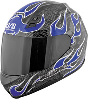 Speed and Strength SS700 Trial By Fire Blue Full Face Helmet