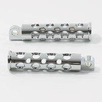 V-Twin Manufacturing Chrome Hole Shot Billet Footpegs