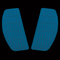Jammer Blue Rectangluar Floor Mats