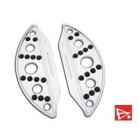 Battistinis Chrome Semi-Circle Passenger Floorboards