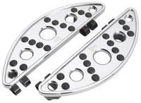 Battistinis C-Thru Chrome Short Semi-Circular Driver Floorboards