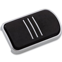Milwaukee Twins Chrome Brake Pedal Pad