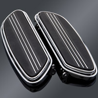 Milwaukee Twins Chrome Base Streamliner Floorboards
