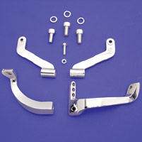 J&P Cycles® Chrome Stock Length Driver Floorboard Mounting Kit