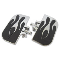 J&P Cycles® Universal Chrome Flame Mini-Floorboards