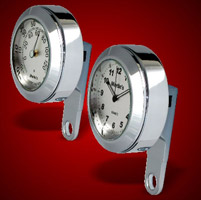 Marlin's Brushed Aluminum Clock and Thermometer Set