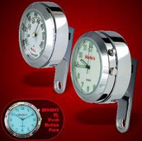 Marlin's White EL Clock and Non-Lit Thermometer Set