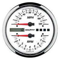 Auto Meter White Face Speedometer/Tachometer