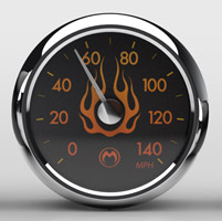 Medallion Instrumentation Systems Flames Gauge Set for Touring Models
