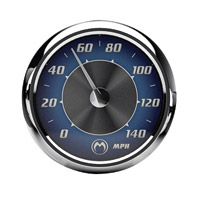 Medallion Instrumentation Systems Blue Tradition Gauge Set for Touring Models