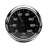 Medallion Instrumentation Systems Racing Black Gauge Set for Touring Models