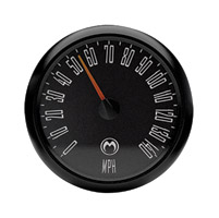 Medallion Instrumentation Systems Just Black Gauge Set for Touring Models