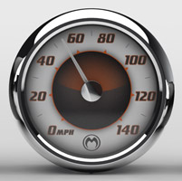 Medallion Instrumentation Systems Sundown Premium Gauges for Touring Models