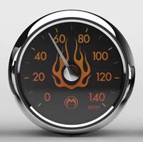 Medallion Instrumentation Systems Flames Premium Gauges for Touring Models