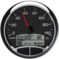 Medallion Premium 5″ Racing Black Console Gauge