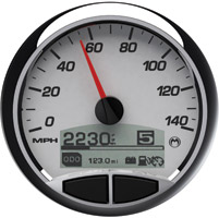 Medallion Premium 5″ Console Racing White Gauge