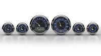 Medallion Instrumentation Systems Premium Bagger KPH Gauges, Blue Tradition