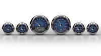 Medallion Instrumentation Systems Premium Bagger KPH Gauges, Classic blue