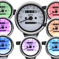 J&P Cycles® Seven-Color Speedometer