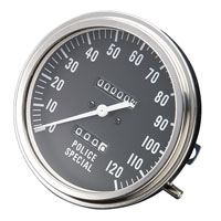 J&P Cycles® FL-Style Police Face Speedometer
