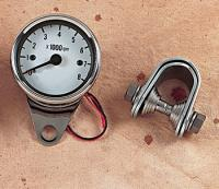 Drag Specialties White Face Mechanical Tachometer
