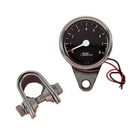 Drag Specialties Black Face Mechanical Tachometer