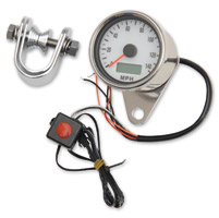 J&P Cycles® Mini Electronic Speedometer