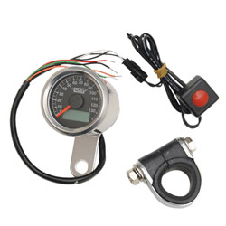 Drag Specialties Mini Electronic Speedometer