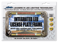 Street FX Integrated Chrome LED License Plate Frame