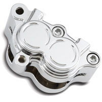 Arlen Ness Billet Chrome Front Left Brake Caliper Housing for Softail and Dyna
