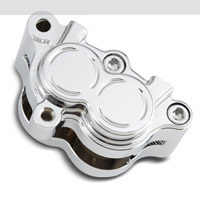 Arlen Ness Billet Chrome Rear Brake Caliper Housing for Softail and Dyna