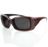 Bobster Ava Convertible, Red Frame/Anti-fog Smoked Lens