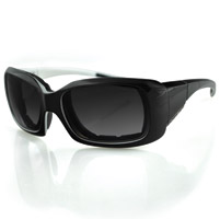 Bobster Ava Convertible, Black/Pearl Frame/Anti-fog Smoked Lens