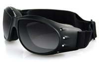 Bobster Cruiser Goggles, Black Frame, Anti-fog Smoked Lens