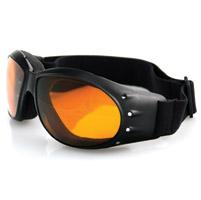 Bobster Cruiser Goggles, Black Frame, Anti-fog Amber Lens