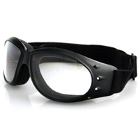 Bobster Cruiser Goggles, Black Frame, Anti-fog Clear Lens