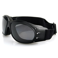 Bobster Cruiser Goggles, Black Frame, Anti-Fog Smoked Reflective Len