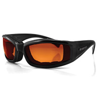 Bobster Invader Sunglass, Blk Frame, Orange Photochromic Lens