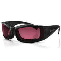 Bobster Invader Sunglass, Blk Frame, Rose Photochromic Lens
