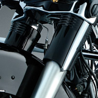 Kuryakyn Smooth Gloss Black Upper Fork Slider Cover for Touring Models