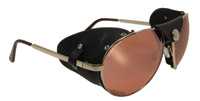 Global Vision Eyewear Gold Frame Driving Mirror Lens