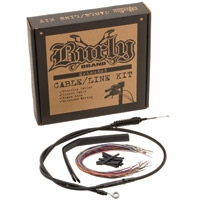 Burly Brand Black 13″ Ape Hanger Cable/Brake/Wiring Kit w/ ABS