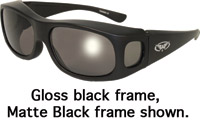 Global Vision Eyewear Avant-gard Sunglasses Gloss Black Frame